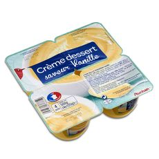 Auchan crème dessert goût vanille 4x125g