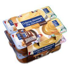 Auchan crème dessert chocolat vanille caramel 12x125g