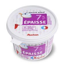 Auchan spécialité laitière 7%mg épaisse 510g