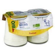 Auchan Bio yaourt au lait de brebis 2x125g