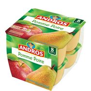 Andros compote pomme poire 8x100g