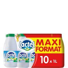 LACTEL Lactel lait écrémé U.H.T 10x1l maxi promo
