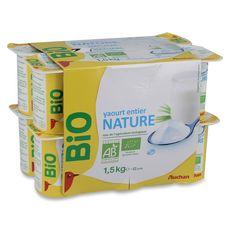AUCHAN BIO AUCHAN BIO Yaourt nature au lait entier 12x125g 12x125g