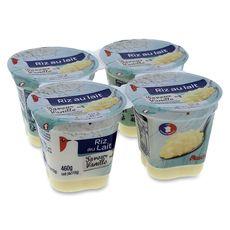 Auchan riz au lait saveur vanille au lait entier 4x115g