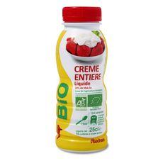 Auchan crème fluide bio 25cl