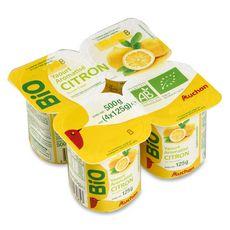 AUCHAN BIO Yaourt au citron 4x125g