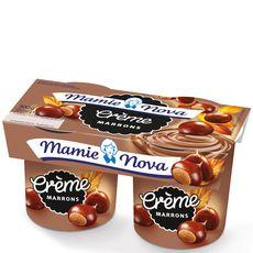 Mamie Nova gourmand crème de marrons 2x150g