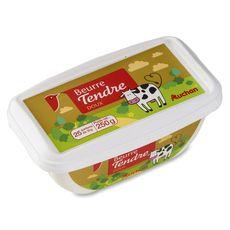 Auchan beurre tendre doux 250g