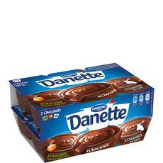 Danette crème dessert 3 chocolats 12x115g