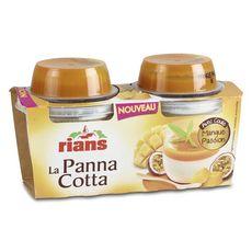 RIANS Panna Cotta et coulis de Mangue, Passion 2x120g