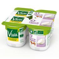Vrai yaourt nature 0% bio 4x125g