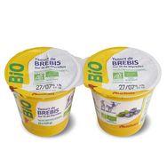 Auchan bio yaourt lait de brebis sur lit de myrtille 2x125g