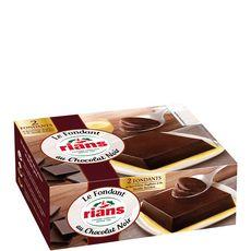 RIANS Fondant au chocolat noir 2x110g