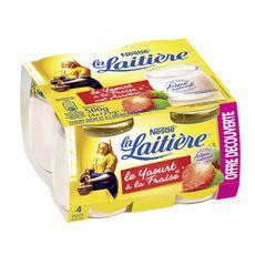 LA LAITIERE La Laitière Yaourt fraise 4x125g 4x125g