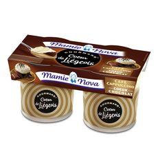 MAMIE NOVA Liégeois au café cœur chocolat 2x120g