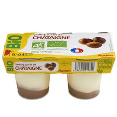 Auchan bio yaourt sur lit de châtaignes 2x125g