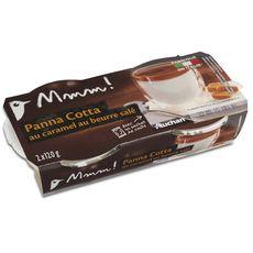 AUCHAN MMM! MMM! panna cotta caramel 2x120g