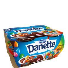 Danette Pop crème dessert chocolat billes magix 4x120g