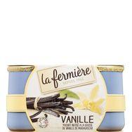La Fermière yaourt à la vanille en pot de grès 2x140g