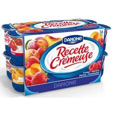 Recette crémeuse yaourt aux fruits gourmands panaché 16x125g
