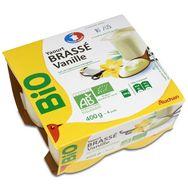 Auchan bio yaourt vanille 4x100g