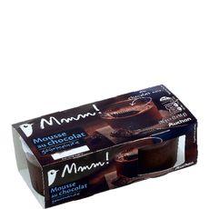 Mmm! mousse gourmande chocolat noir 2x90g