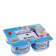 AUCHAN Fromage blanc 3.7% MG 4x100g