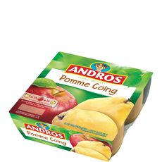 Andros pomme coing 4x100g