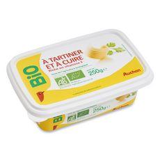 Auchan bio matière grasse végétale barquette 58%mg 250g