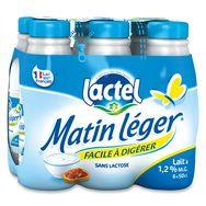 Lactel matin léger lait U.H.T. 6x50cl