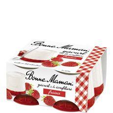 Bonne Maman yaourt confiture fraise 4x125g