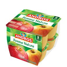 Andros compote de pommes nature 8x100g