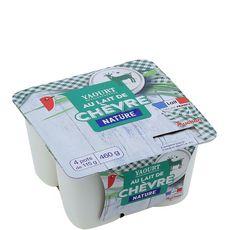 AUCHAN Yaourt au lait de chèvre nature 4x115g