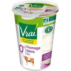 VRAI Fromage blanc bio 0% MG 500g