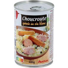 AUCHAN Choucroute garnie au vin blanc 1 personne 400g