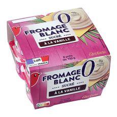 AUCHAN AUCHAN Fromage blanc sucré à la Vanille 0% MG 8x100g 8x100g