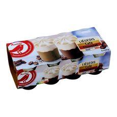 AUCHAN Liégeois au chocolat et café 8x100g