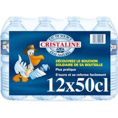 CRISTALINE Cristaline Eau de source plate bouteilles 12x50cl 12x50cl