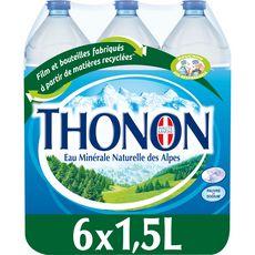 THONON Eau minérale naturelle plate 6x1,5l