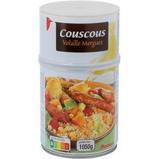 AUCHAN Couscous volaille et merguez 3 personnes 1,050kg