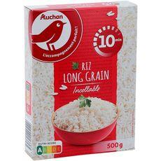 AUCHAN Auchan Riz long grain incollable cuisson rapide 500g 500g