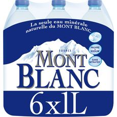 Mont blanc Eau minérale plate naturelle 6x1,5l