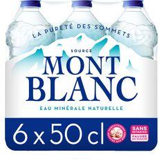 MONT BLANC Eau minérale naturelle plate 6x50cl