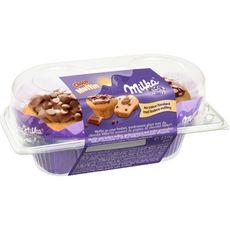 MILKA Muffin au coeur fondant chocolat 2 pièces 220g