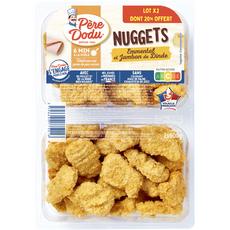 Père Dodu Nuggets jambon fromage 2X600g