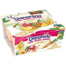 DANONINO Petits suisses banane mangue carotte 4x90g