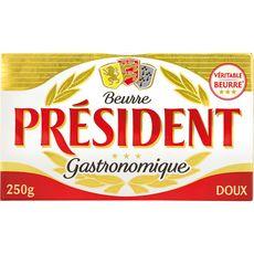PRESIDENT Beurre gastronomique doux 250g