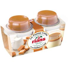 RIANS Dessert Panna cotta et sa confiture de lait 2x120g