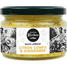 MAISON RIVIERE Sauce apéritif au citron confit et gingembre 200g