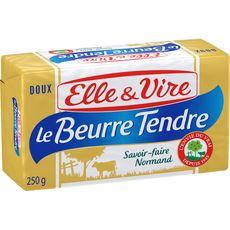 ELLE & VIRE Le beurre tendre doux 250g